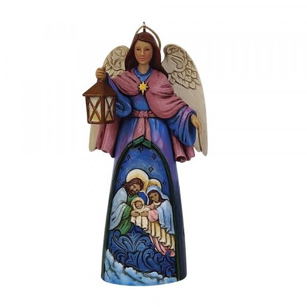Jim Shore, Heartwood Creek, Jim Shore Weihnachten, 6009455, Nativity Angel, Engel mit Heiliger Familie, Jim Shore Engel, Heartwood Creek Engel