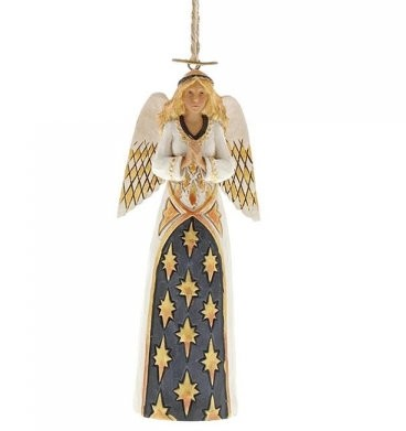 Heartwood Creek, Jim Shore, Black & Gold Angel Ornament, Engel, Anhänger