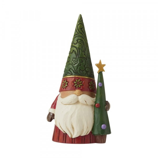 Jim Shore, Heartwood Creek, Jim Shore Gnome, Heartwood Creek Gnomes, Jim Shore Wichtel, 6009184, Weihachtswichtel mit Tannenbaum, Christmas Gnome with Tree