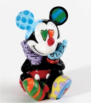 Romero Britto Pop Art aus Miami - Miini Mickey Mouse Hearty Eyes / MIni Micky Maus - Herzaugen