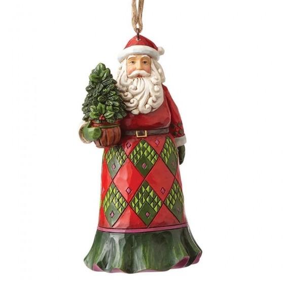 Heartwood Creek, Jim Shore, Evergreen Santa Ornament, Weihnachtsmann Anhänger