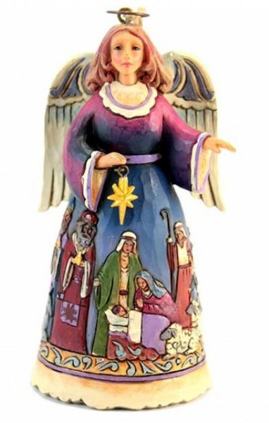 Heartwood Creek, Jim Shore, Angel with Nativity Scene Ornament, Engel, Anhänger, 4034406