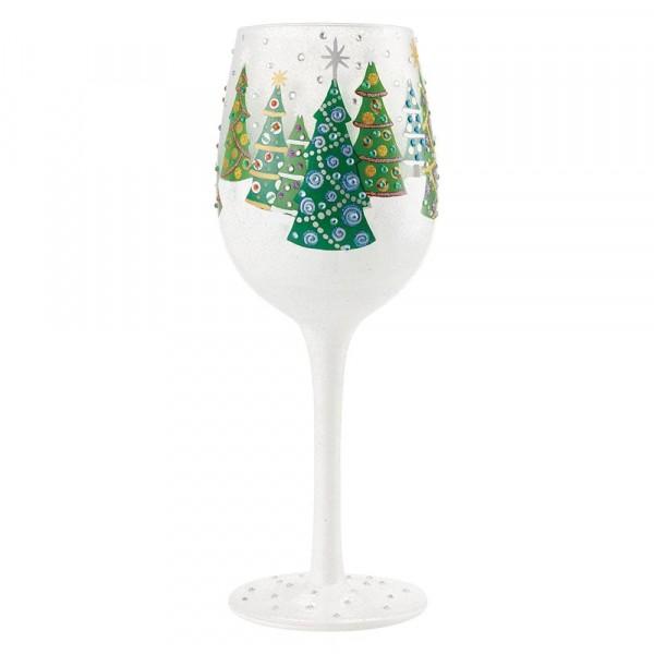 Lolita Glas, Lolita Gläser, Lolita Weinglas, Lolita Weingläser, Christmas Trees in the Snow, Weihnachtsbäume im Schnee