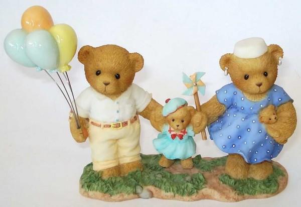 Cherished Teddies, John, Emily & Kate