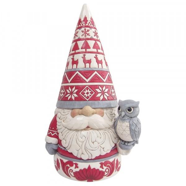 Jim Shore, Heartwood Creek, Jim Shore Weihnachten, ND6009500, Nordic Noel Gnome Large Figurine, Nordic Noel Wichtel Statue, nordisch, skandinavische Dekoration