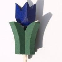 Tulpe blau für Kerzenring groß