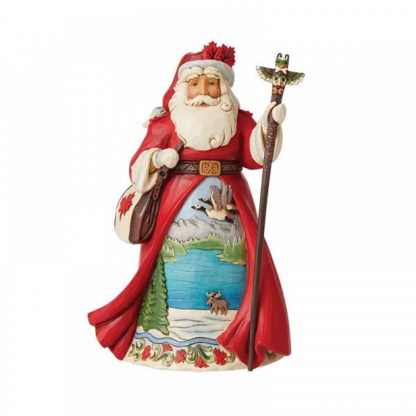 Jim Shore, Heartwood Creek, Jim Shore Weihnachten, 6008915, Canadian Santa, Kanadischer Weihnachtsmann, Around the World Collection