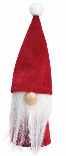 Wichtel mit weißem Bart / rot
