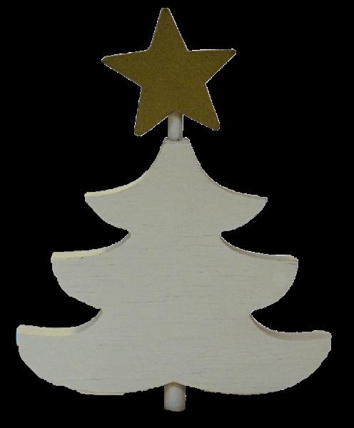 Sebastian Design, Candlering, Kerzenring, Kerzenringe, Skandinavischer Holzkranz, Skandinavische Kerzenringe, Tanne mit Stern, weiße Tanne mit goldenem Stern, 46-785-102