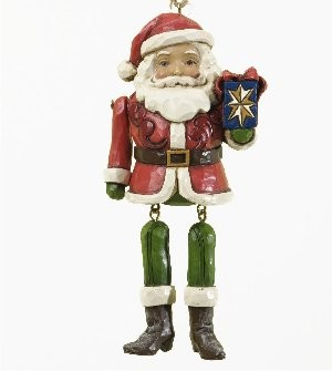 Heartwood Creek, Jim Shore, Santa with Dangling Arms Ornament, Anhänger