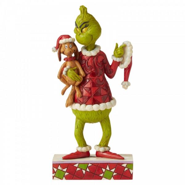 Jim Shore, Heartwood Creek, The Grinch Collection, Grinch with Max Under His Arm, Grinch mit Max unter dem Arm, 6006570, der Grinch