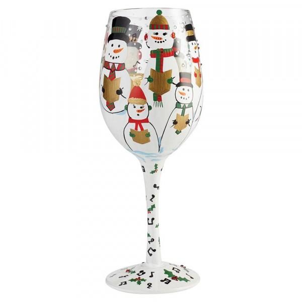 Lolita Glas, Lolita Gläser, Lolita Weinglas, Lolita Weingläser, Singing In The Snow, Wine Glass, Schneemann, Schneemänner