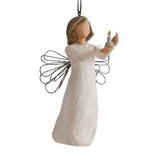 Willow Tree, Willowtree, Demdaco, Susan Lordi, Angel of Hope Ornament, Engel der Hoffnung Weihnachtsanhänger