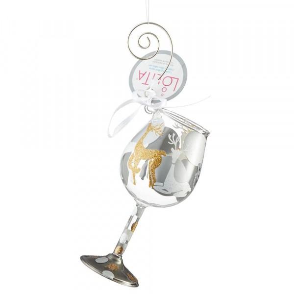 Lolita Glas, Lolita Gläser, Lolita Weinglas, Lolita Weingläser, Visions of Reindeer Ornament, Anhänger, 6002995