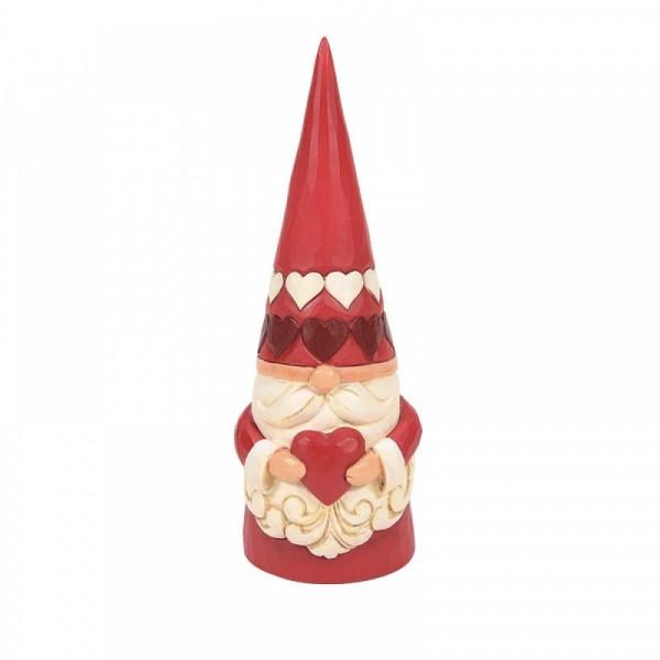 Jim Shore, Heartwood Creek, Jim Shore Gnome, Heartwood Creek Gnomes, Jim Shore Wichtel, 6008401, Red Gnome Holding Heart, Wichtel mit Herz