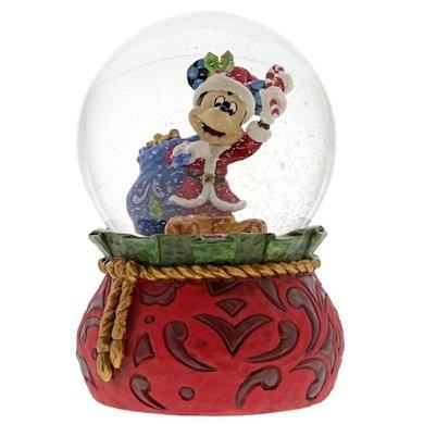 Jim Shore DIsney Traditions - Bringing Holiday Cheer Mickey Waterball, Weihnachtsmicky Schneekugel