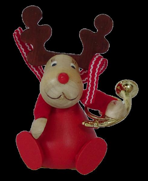 Nordika Design, Kerzenringe, Steckfiguren, Elch mit Posaune, Weihnachtselch, F44EPO