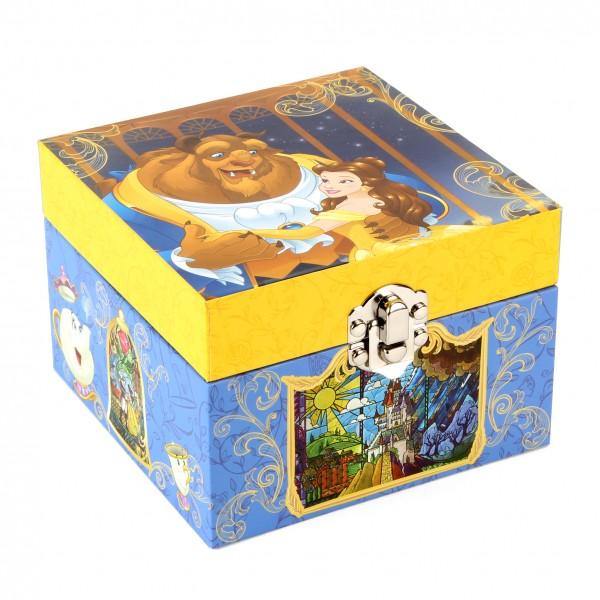 Wald Disney by Widdop and Co - Disney Beauty & The Beast Musical Jewellery Box / Schmuckschachtel mit Spieluhr