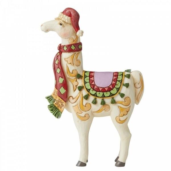 Jim Shore, Heartwood Creek, Jim Shore Weihnachten, 6006658, Lama mit Schal, Llama with Scarf, Heartwood Creek Weihnachten