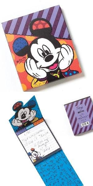 Romero Britto Pop Art aus Miami - Mickey Mouse Notepad / Notizblock