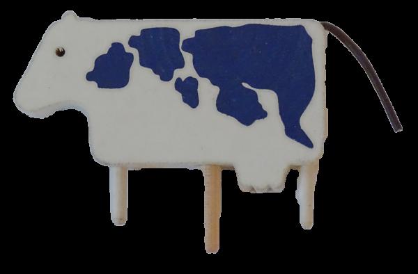 Sebastian Design, Kerzenringe, Holzkränze, Candlerings, Steckfiguren, Kuh weiß/kobalt 514-130