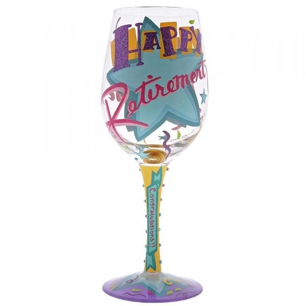 Lolita, Weinglas, Wine Glass, Happy Retirement Wine Glass, Herzlichen Glückwunsch zur Rente Weinglas