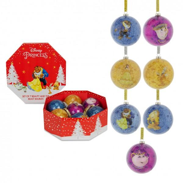 Disney, Walt Disney, Widdop and Co, Disney, Hanging Decoration, XM6034, Weihnachtsanhänger, Disney Weihnachtskugel, Disney Schöne und das Biest, Disney Beauty and the Beast, Disney Weihnachtskugeln