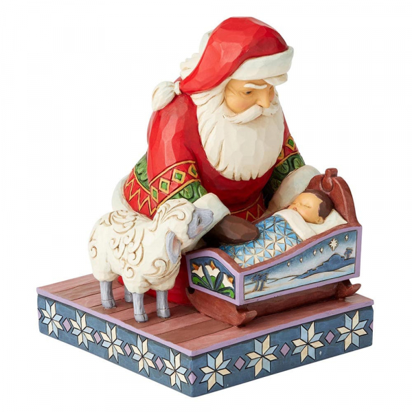 Even Kings Need Tucking In - Santa with Baby Jesus