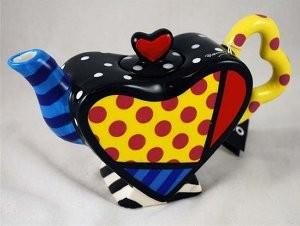 Romero Britto Pop Art aus Miami - Tea Pot / Teekanne