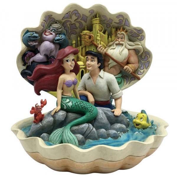 Disney Traditions, Jim Shore, Seashell Scenario, Arielle, die kleine Meerjungfrau, Ariel the little mermaid
