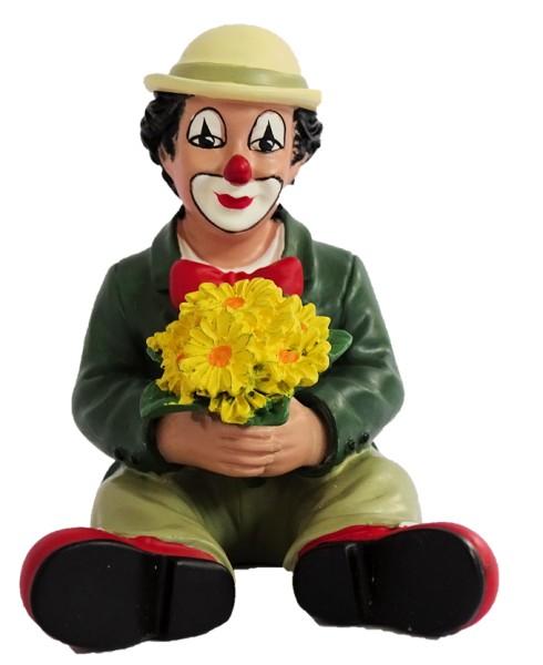 Gilde Handwerk, Gilde Clowns, Florius sitzend mit gelben Blumen