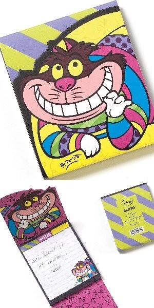Romero Britto Pop Art aus Miami - Cheshire Cat Notepad / Notizblock