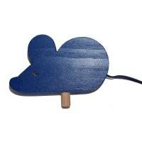 Maus blau für Kerzenring groß