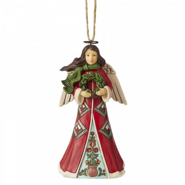 Heartwood Creek, Jim Shore, Angel with Wreath, Ornament, Anhänger, Weihnachtsmannanhänger, Tannenbaumanhänger