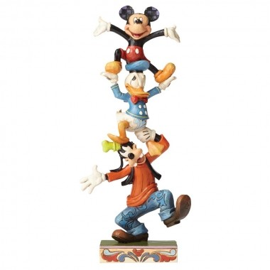 Disney Traditions, Jim Shore - Teetering Tower Mickey Mouse & Friends, Micky Maus und seine Freunde