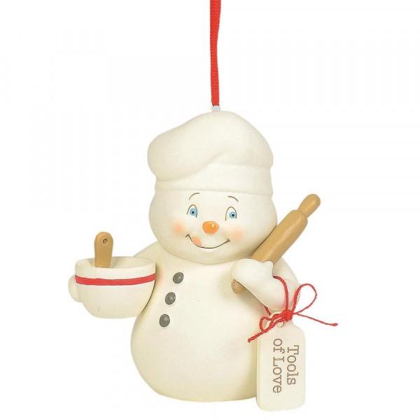 Kristi Jensen Piero, Snowpinions, Snowbabies, Department 56, Schneemann, Ornament, Anhänger, Tools of Love, 6003278