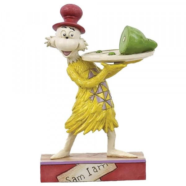Dr. Seuss, Jim Shore, Sam Holding Plate of Green Eggs and Ham, Sam mit Tablett, Sam mit Servierplatte