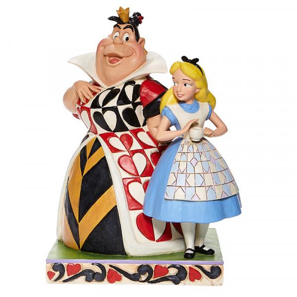 Disney Traditions, Jim Shore, Jim Shore Disney, Jim Shore Disneyfigur, Jim Shore Disney Figur, Good & Evil, Gut & Böse, Chaos and Curiousity, Alice and the Queen of Hearts, Alice und die Königin der Herzen, Alice in Wonderland, Alice im Wunderland, 600806