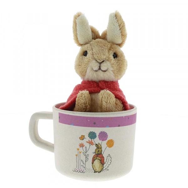 Beatrix Potter, Peter Rabbit Flopsy Bunny Bamboo Mug & Soft Toy Gift Set, Flopsy Bunny Becher und Hase Geschenkset
