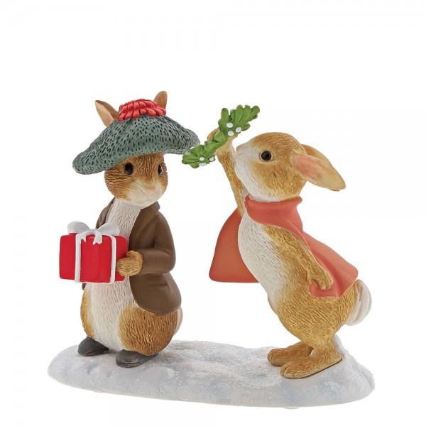 Beatrix Potter, Beatrix Potter Collection, Peter Rabbit, Benjamin Bunny, Flopsy, Jemima Puddle-Duck, Jeremy Fisher, A30181, Flopsy and Benjamin Bunny Under the Mistletoe