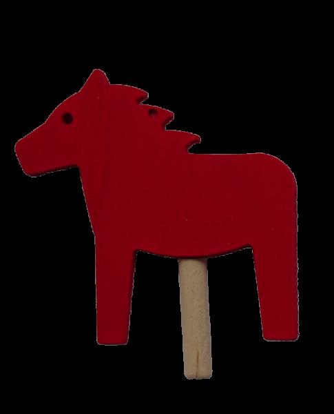 Sebastian Design, Candlering, Kerzenring, Skandinavischer Holzkranz, Skandinavische Kerzenringe, rotes Pferd, Pferd rot, 10-522-120