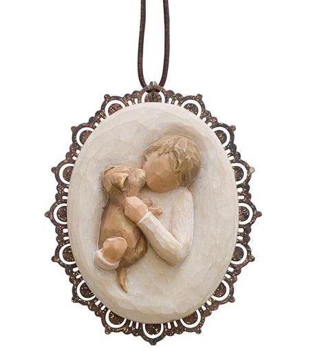 Willow Tree, Willowtree, Demdaco, Susan Lordi, Kindness Boy Ornament, Güte, Freundlichkeit, Weihnachtsanhänger