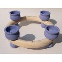 Kerzenring für Teelichter, hellblau