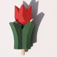 Tulpe rot für Kerzenring 510
