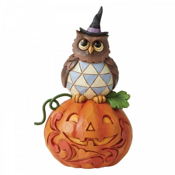 Heartwood Creek, Jim Shore, Halloween, Jack-o-Lantern and Owl, Kürbislaterne und Eule