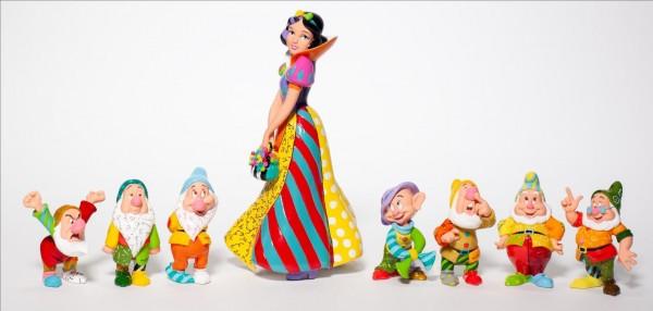 Romero Britto, Disney Britto, Pop-Art aus Miami, Snow White and the seven dwarfs, Schneewittchen und die sieben Zwerge