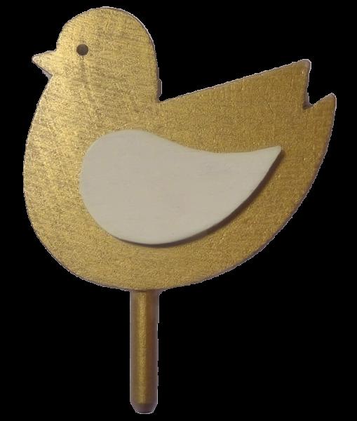 Vogel gold-weiß