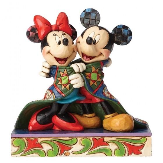 DIsney Traditions, Jim Shore - Warm Wishes Mickey & Minnie / Micky & Minnie