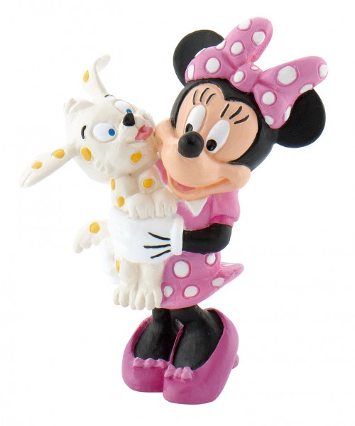 Bullyland, Micky Maus, Mickey Mouse, Minnie Maus mit Hündchen, Minnie Mouse, Walt Disney, 15329