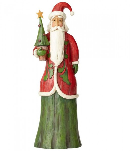 Heartwood Creek, Jim Shore, Folklore Tall Santa with Tree, Weihnachtsmann mit Baum